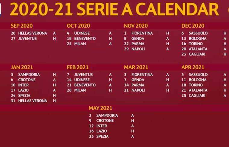 Il calendario della Roma 2020/2021   Associazione Italiana Roma Club